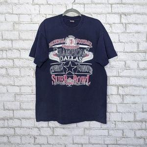 Vtg '92 Dallas Cowboys Football Single Stitch